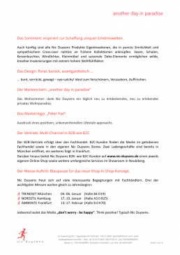 Nic Duysens Pressetext - Freier Texter