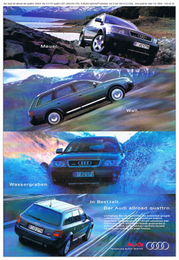 Audi allroad quattro Anzeige - Freier Texter