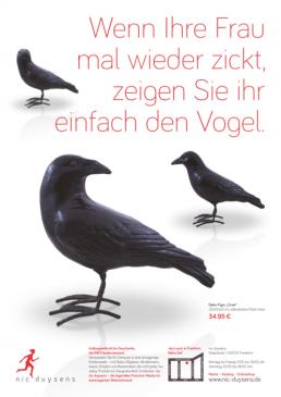 Nic Duysens Anzeige 'Vögel' - Freier Texter