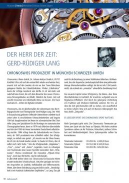 Chronoswiss Advertorial - Freier Texter