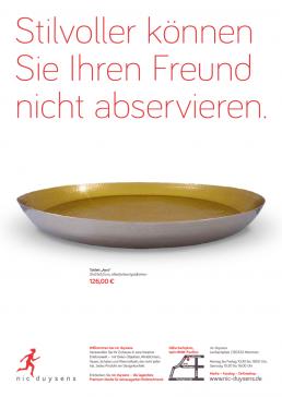 Nic Duysens Anzeige 'Tablett' - Freier Texter