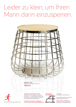 Nic Duysens Anzeige 'Tisch' - Freier Texter