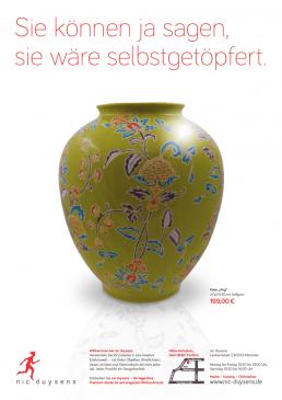 Nic Duysens Anzeige 'Vase' - Freier Texter