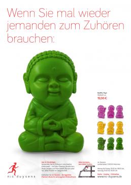 Nic Duysens Anzeige 'Buddha' - Freier Texter